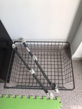 IKEA | komplement | cesto rede cinza 50x58