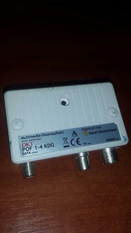 Мультимедийная розетка DKT COMEGA POF 1-4 KDG TV / Radio