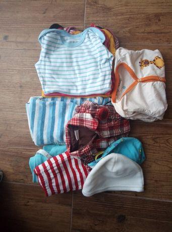 Paka ubran dla niemowlaka rozm 62-74