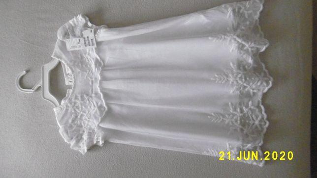 Sukienka biała. Koronka i haft. Rozmiar 80. Nowa! H&M