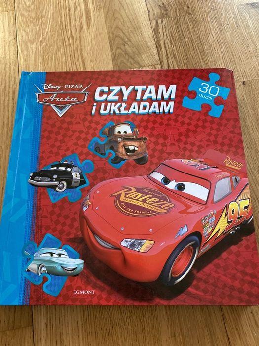 Czytam i ukladam Auta Cars książka z puzzlami Zygzak Mcqueen Warszawa - image 1