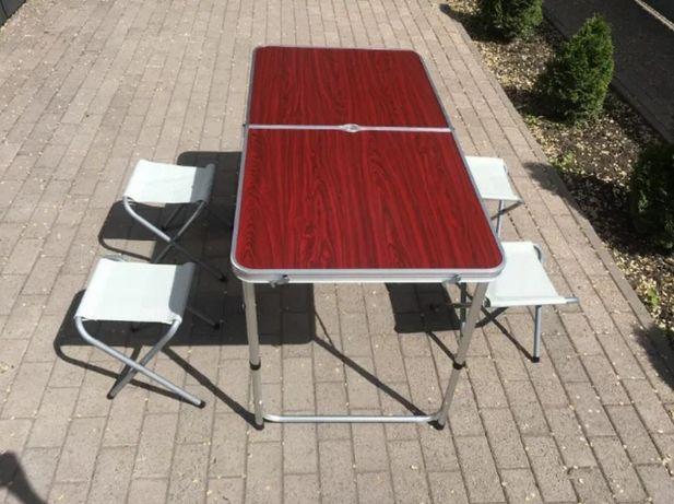 Стол раскладной Для отдыха, сада, рыбалки Алюминиевый + 4 стула