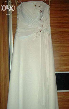 Suknia ślubna biała rozm.38 stan idealny Okazja!!!