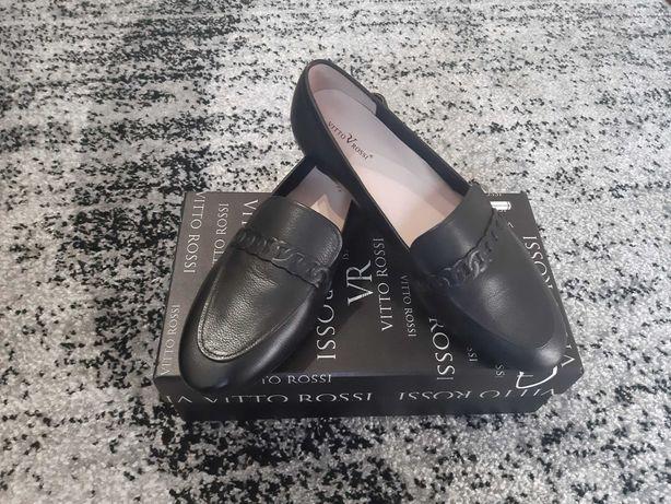 Кожаные женские туфли лоферы Vitto rossi 38 размер (стелька 25 см)