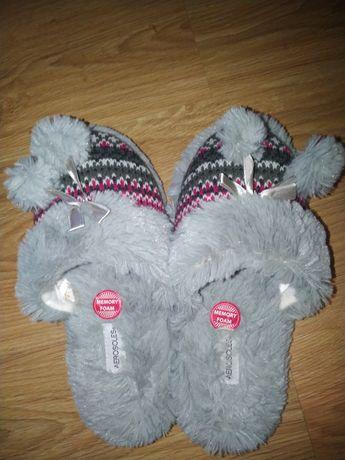 Тапочки бархатные новые мягкие теплые для дома женские 38 39