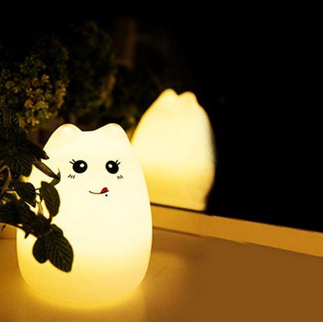 детский аккумуляторный светильник/кот ночник/игрушка для детей usb кот
