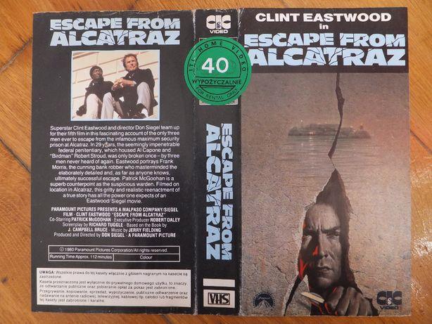 Okładka kasety VHS filmu 'Escape from Alcatraz' Clint Eastwood retro