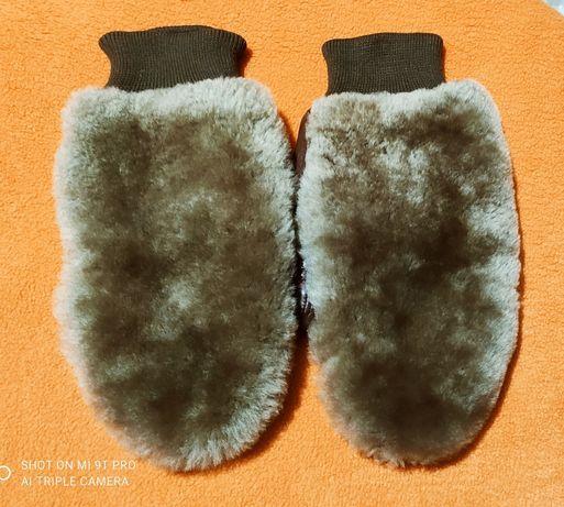 Варежки кожанные , рукавички из Норвегии