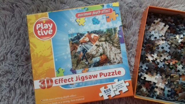 Puzzle trójwymiarowe konie 555 elementów