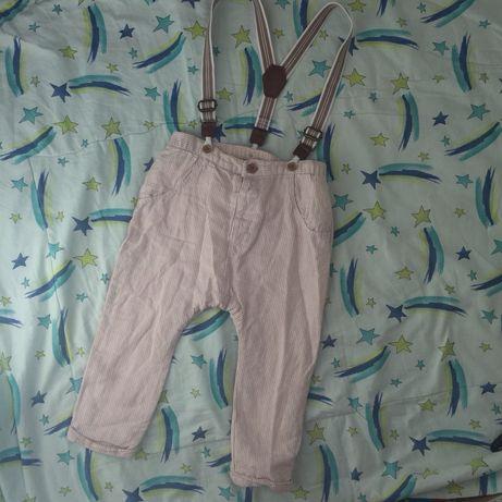Одежда на годик Next штаны брюки на подтяжках 12-18мес/80-86р/1-1,5г