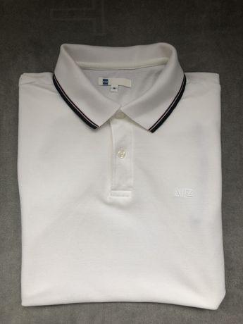 Белая футболка поло AIIZ