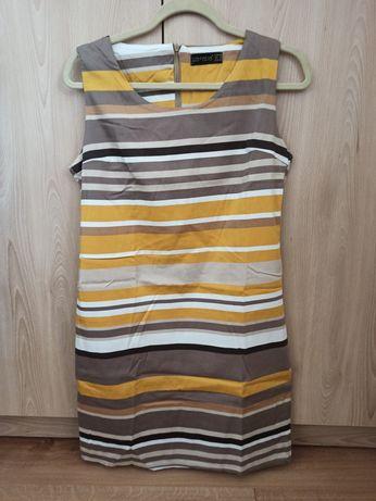 Letnia sukienka w paski r. L (40)