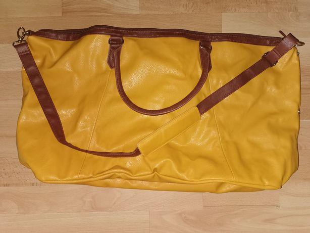 Damska  torba weekendowa kolor Musztardowy