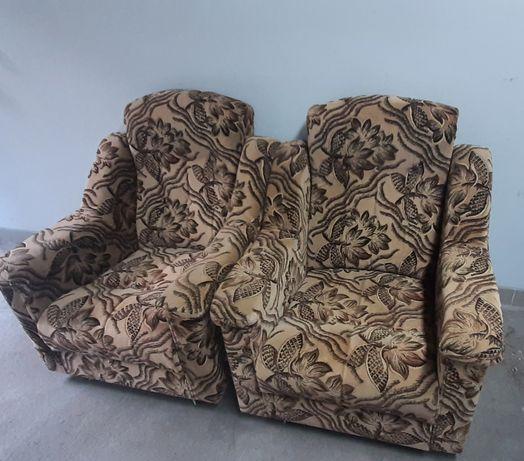 2 Fotele na kółkach welur premium
