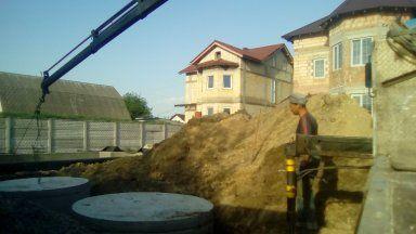 Копка колодцев под канализацию