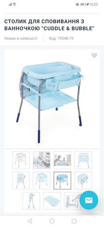 Пеленальный стол с ванной