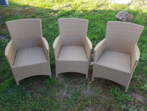 Fotele ogrodowe z technorattanu 7 sztuk
