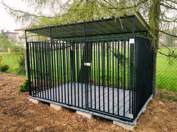 Kojec dla Psa 3x2m Buda Budy Kojce Stalowe Zabudowane Panelowe
