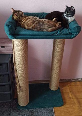 Duży drapak dla kota, szerokie legowisko