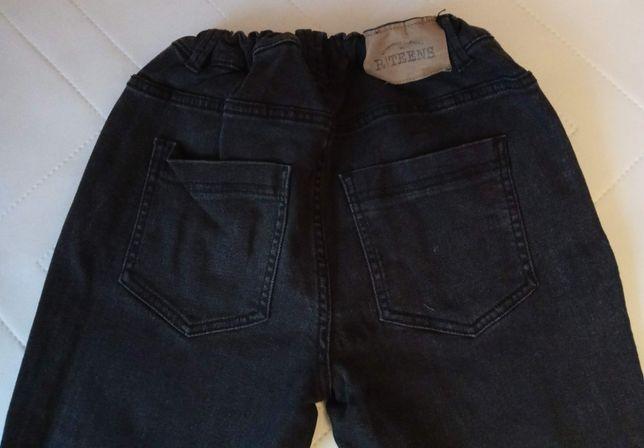 Calças de ganga preta com cintura regulável