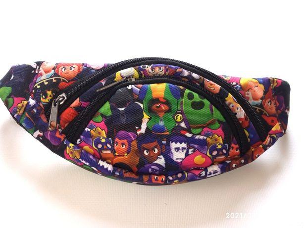 Бананка барсетка детская сумка через плечо бравл старс brawl stars