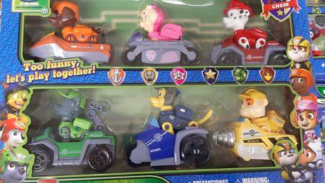Набор героев Щенячий Патруль на машинках, Paw Patrol