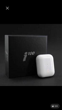 Наушники беспроводные i100 ( сенсорные)