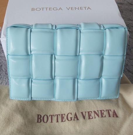 Bottega Veneta BV torebka niebieska Blue 2020 casette siwiec
