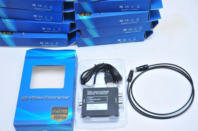 ЦАП Toslink с оптики на миниджек 3.5 и 2 RCA(тюльпаны) для телевизора