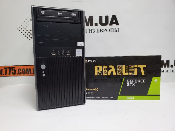Игровой компьютер, Intel Core i7, 8GB RAM, SSD+HDD, GTX 1650 4GB