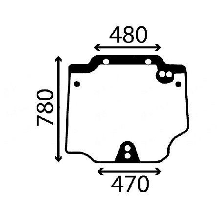 szyba tylna Case Quantum 65V , Quantum 75V , Quantum 85V , 95V ACX556