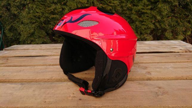 $ Kask IQ czerwony M 55-59cm narty snowboard