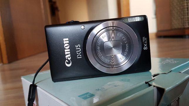 Canon ixus 132, aparat fotograficzny czarny używany cyfrowy