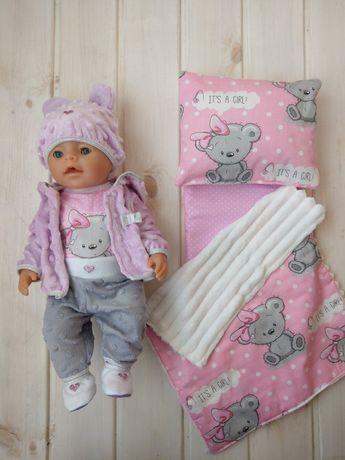 На подарок одежда для пупса 43см Беби Борн Baby Born постелька