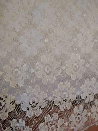 Тюль белая в цветочек СССР