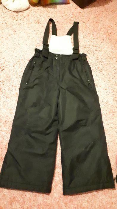 Spodnie zimowe narciarskie na szelkach 104 cm Rodeo Czarne - image 1