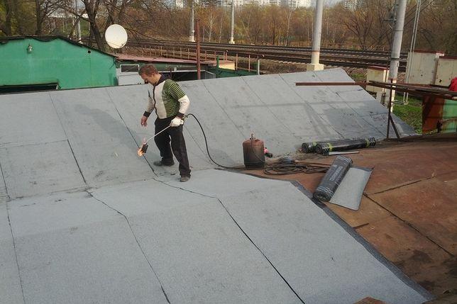 Ремонт крыши кровля Еврорубероид гаражи и многоквартирные дома