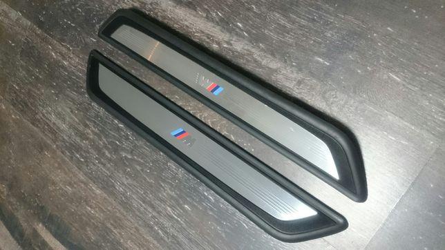 """2x listwy L+P """"M Pakiet"""" progowe przednie BMW 7 F01 idealny stan."""