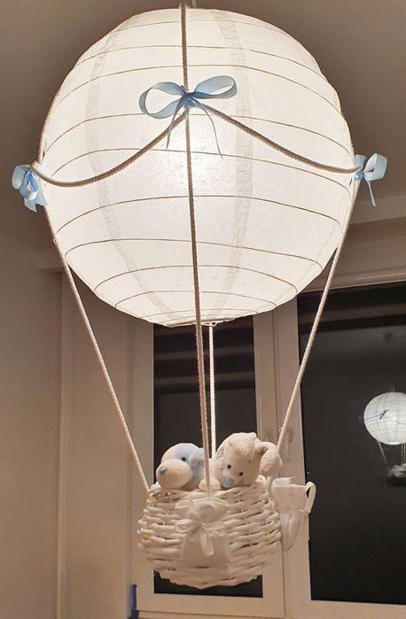 Lampa balon biała rękodzieło Warszawa - image 1