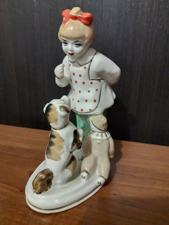 Девочка с собачкой, статуэтка СССР.