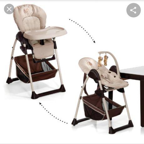 Krzesełko do karmienia + leżaczek 2w1