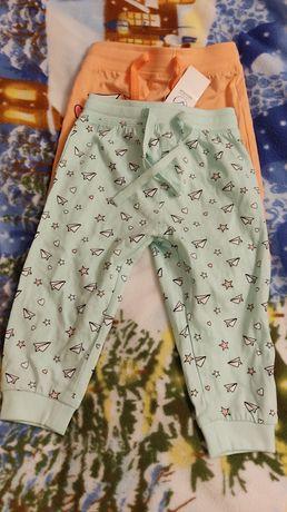 Nowy dwupak spodni niemowlęcych dla dziewczynki r. 74