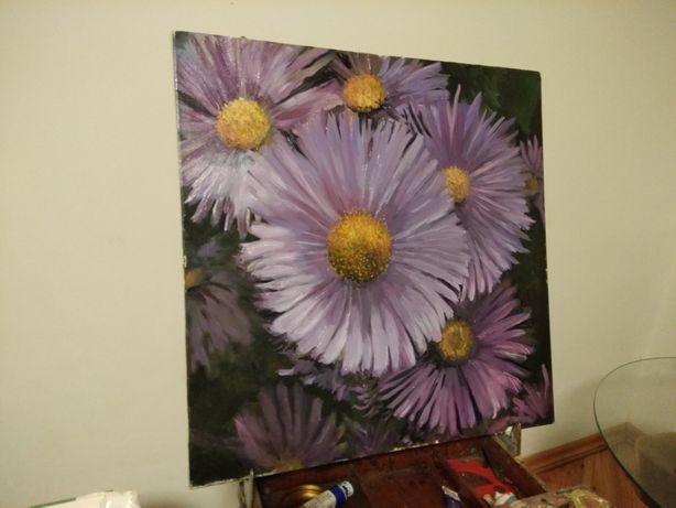 Картина квіти айстри