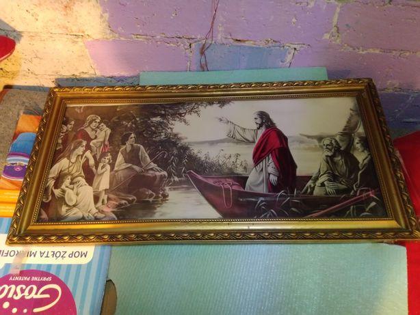 Obraz- Jezus nauczający na Łodzi