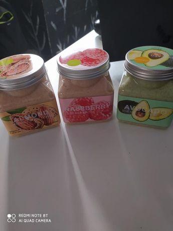 Esfoliantes 100% naturais textura iogurte