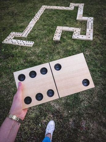 Drewniane domino gry plenerowe