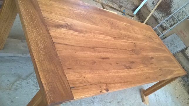 stół dąb duzy lite drewno 230x100 cm