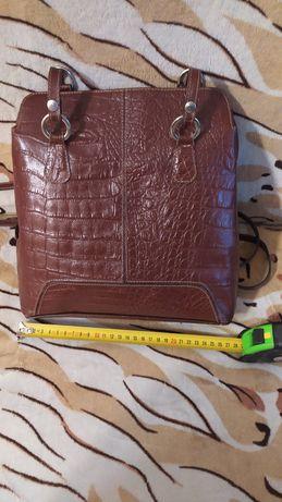 Женская Сумка- рюкзак из натуральной кожи