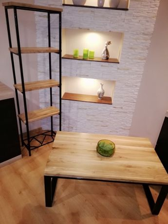 meble drewno metal styl indriustalny loftowy