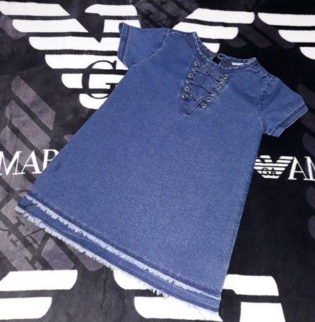 Джинсовое платье сарафан одежда Next